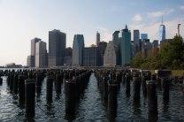 Zicht op Manhattan vanaf Brooklyn