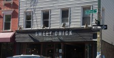 Sweet Chick in Willamsburg, een 'verhipsterde' wijk in Brooklyn. Maar dan wel 'American cuisine with a Southern accent'. Topper!