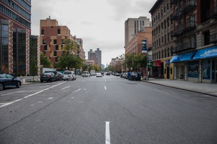Lange straten in Harlem