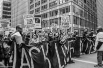 Een demonstratie tegen racisme en politiegeweld jegens - vooral - Afro-Amerikaanse mensen