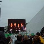 With Sister Sledge at Glastonbury Festival