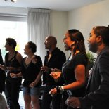 Sounds of Voices livingroomconcert, photo by Willeke Wenno
